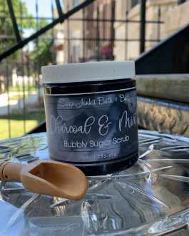Charcoal & Mint Bubbly Sugar Scrub